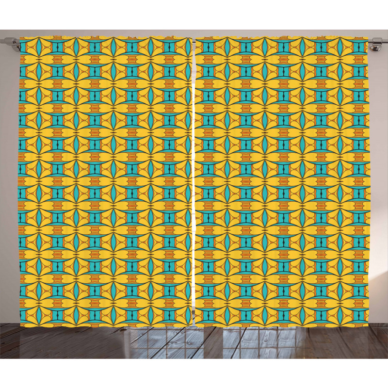 Vintage and Ethnic Art Curtain