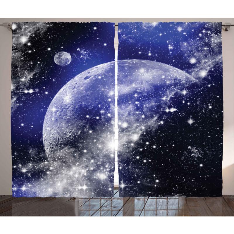 Nebula Galaxy Scenery Curtain