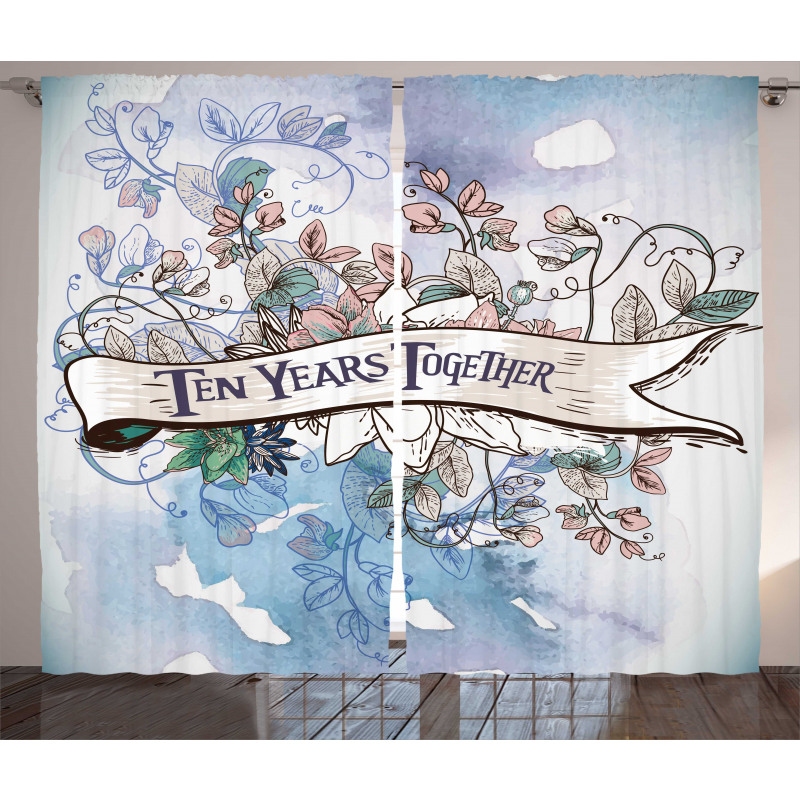 10 Years Floral Art Curtain