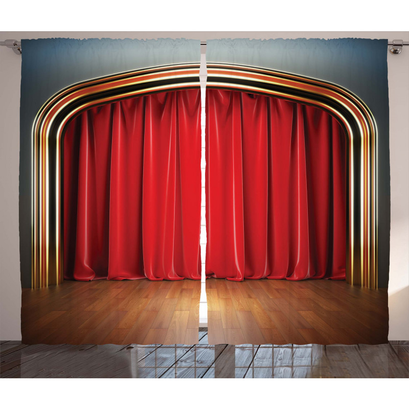 Stage with Classic Curtains Curtain