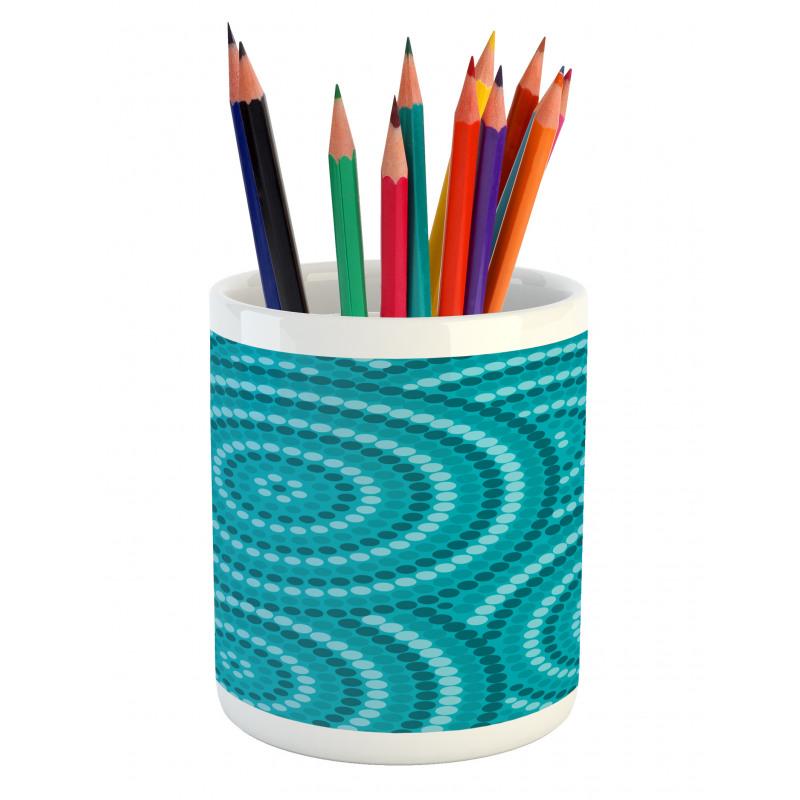 Abstract Australian Dots Pencil Pen Holder