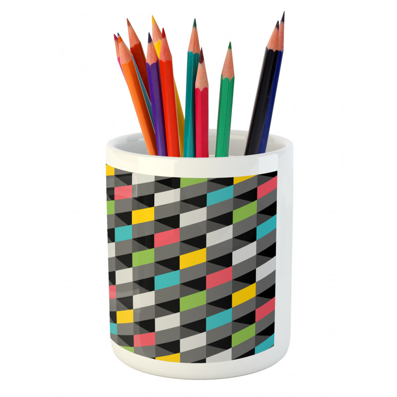 Abstract Art Style Pencil Pen Holder