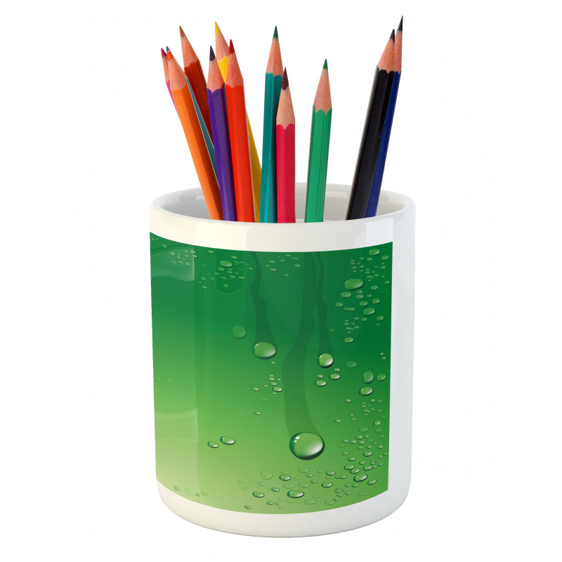 Abstract Art Water Drops Pencil Pen Holder