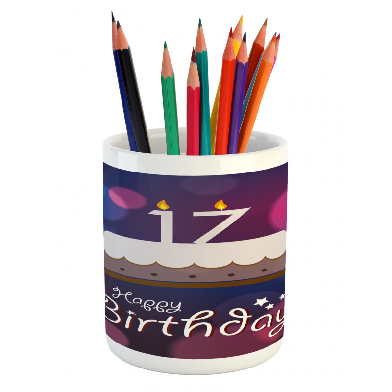 17 Party Cake Pencil Pen Holder