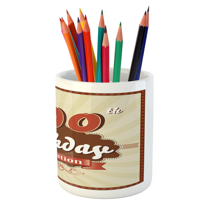100 Old Party Invite Pencil Pen Holder