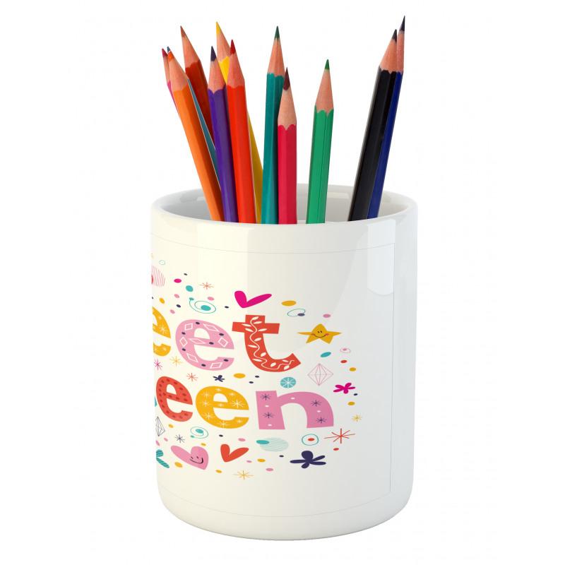 16 Blossoms Pencil Pen Holder