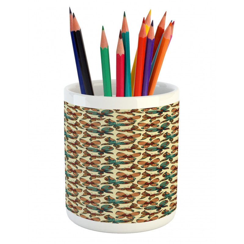 Abstract Art Wings Pencil Pen Holder