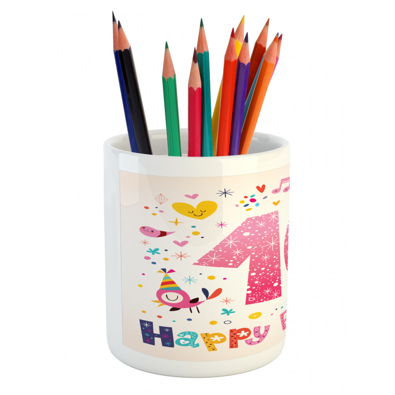 10 Years Kids Birthday Pencil Pen Holder