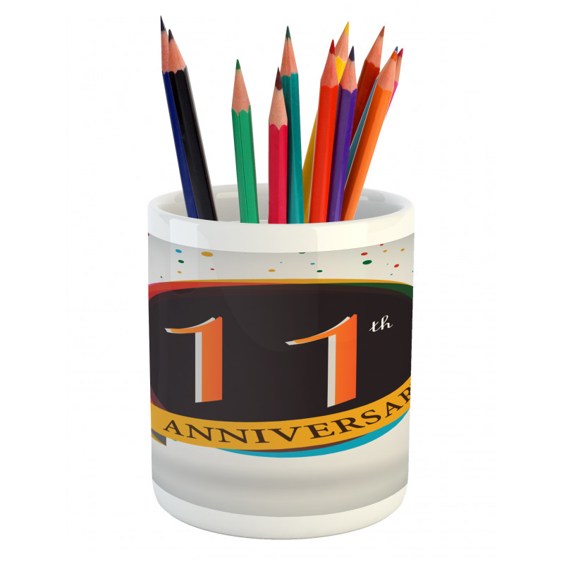 11 Year Retro Style Pencil Pen Holder