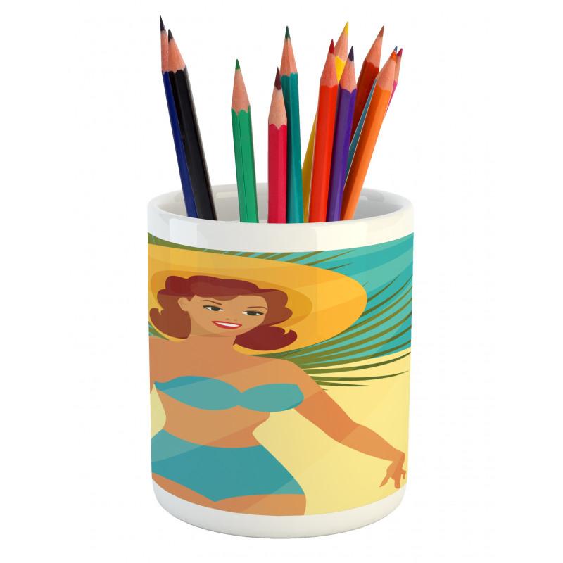 1950s Style Bikini Pencil Pen Holder