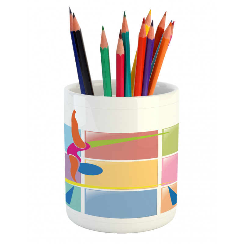 Abstract Athlete Pencil Pen Holder