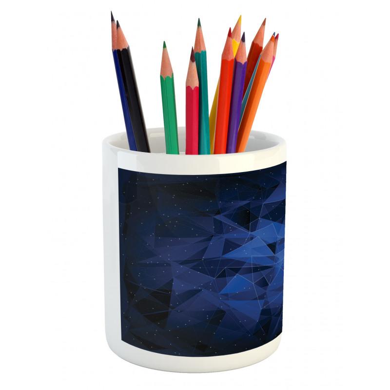 Abstract Atomic Stars Pencil Pen Holder