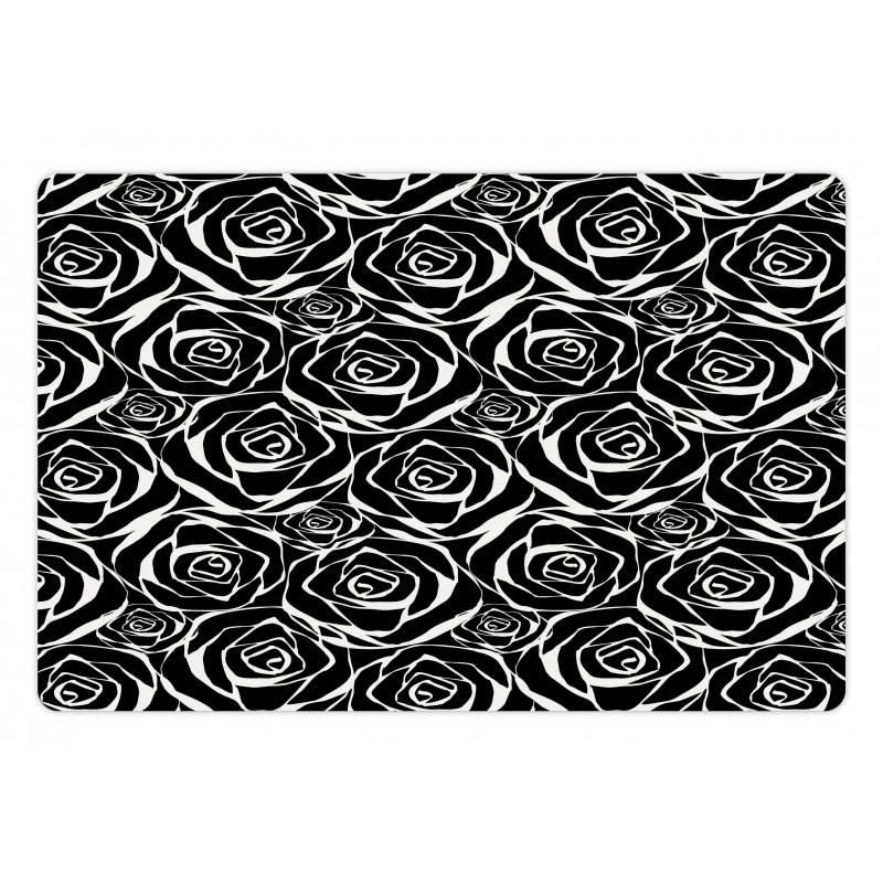 Abstract Art Rose Flowers Pet Mat