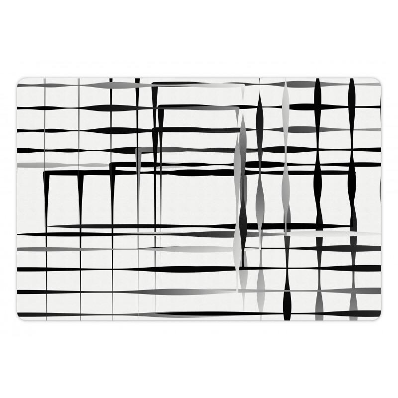 Abstract Art Geometric Pet Mat