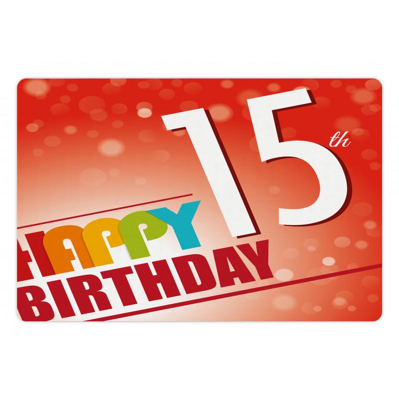 15th Birthday Concept Pet Mat