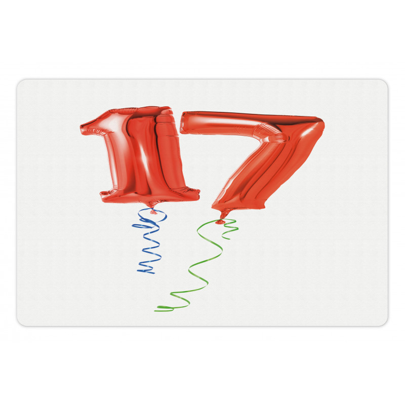 17 Party Red Balloons Pet Mat