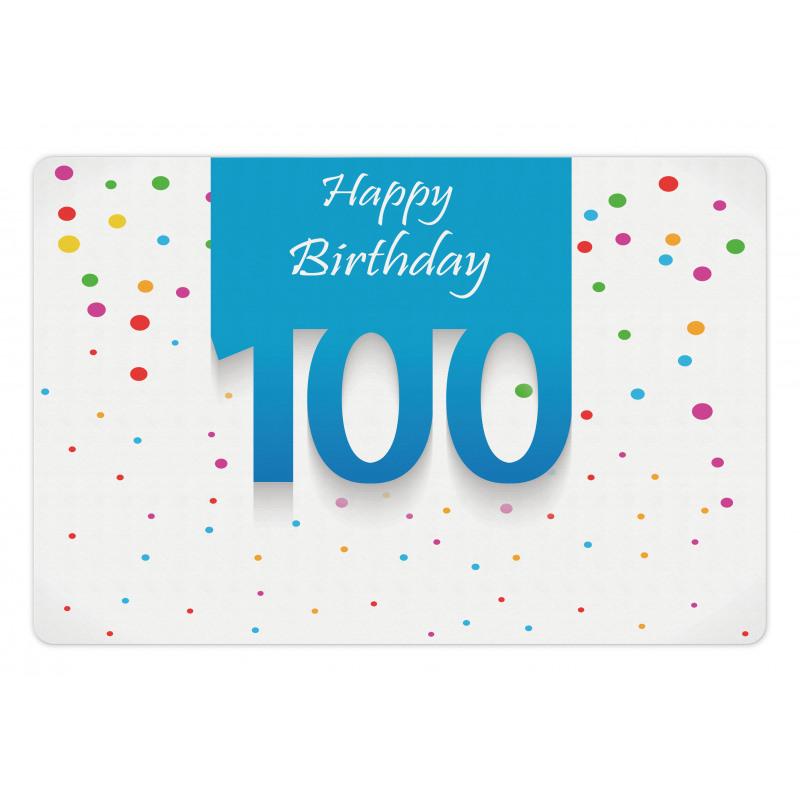 100 Years Birthday Pet Mat