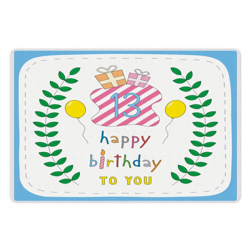 13th Birthday Gifts Pet Mat