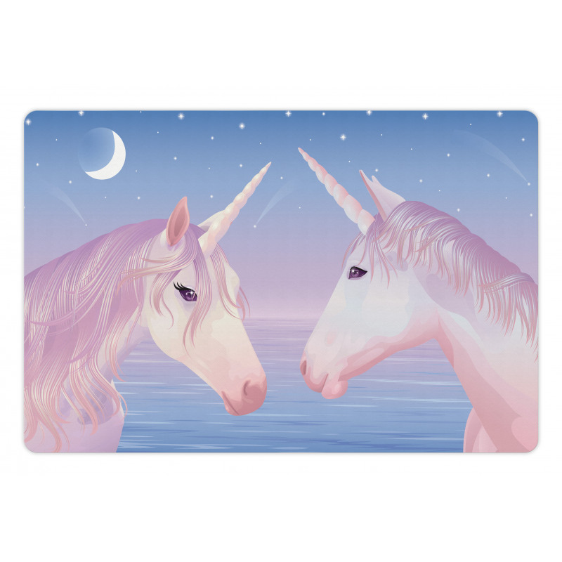 2 Akhal Teke Unicorns Pet Mat