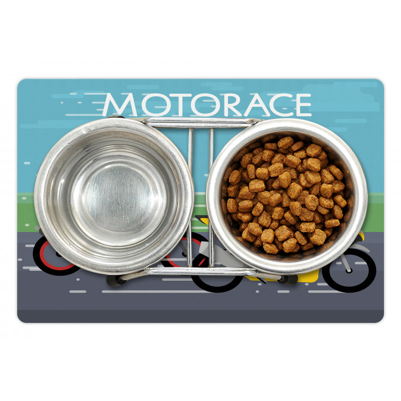 2 Bikers Racing Pet Mat