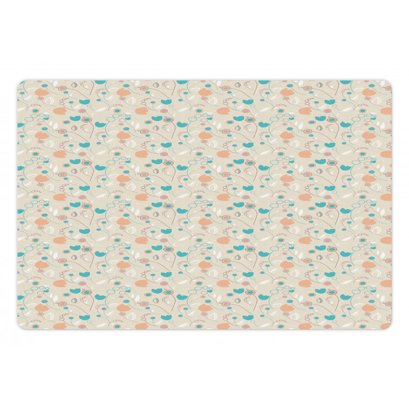 Abstract Art Floral Doodle Pet Mat