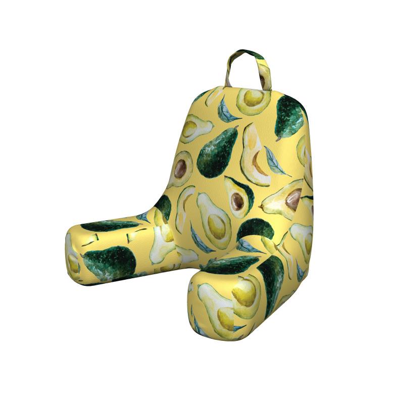 Avokado Okuma Yastığı Sulu Boya Tarzında Çizilmiş Sağlıklı Meyve