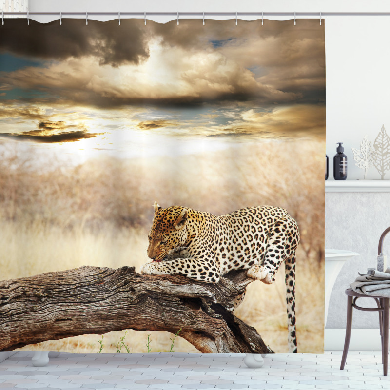 Wild Leopard Shower Curtain