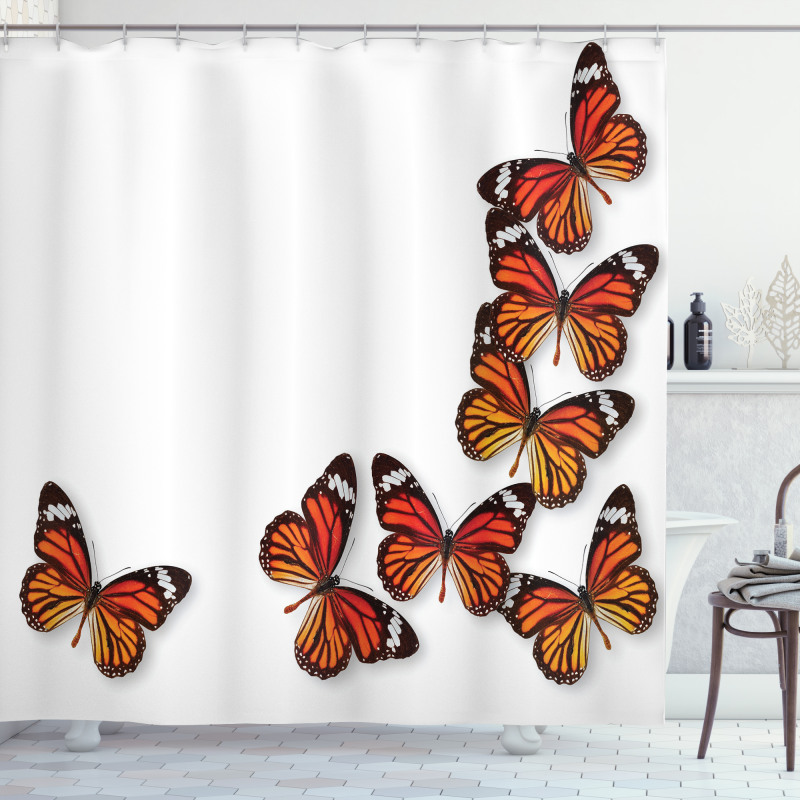 Spring Monarch Bug Shower Curtain