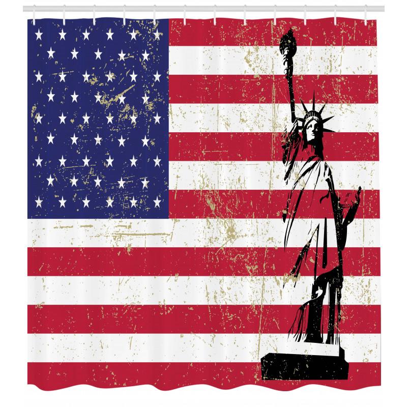 ABD Duş Perdesi Özgürlük Heykeli