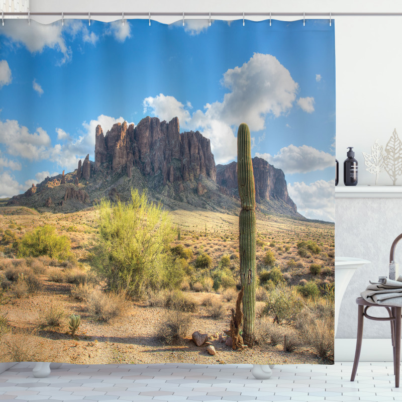 Canyon Cloudy Cliff Shower Curtain