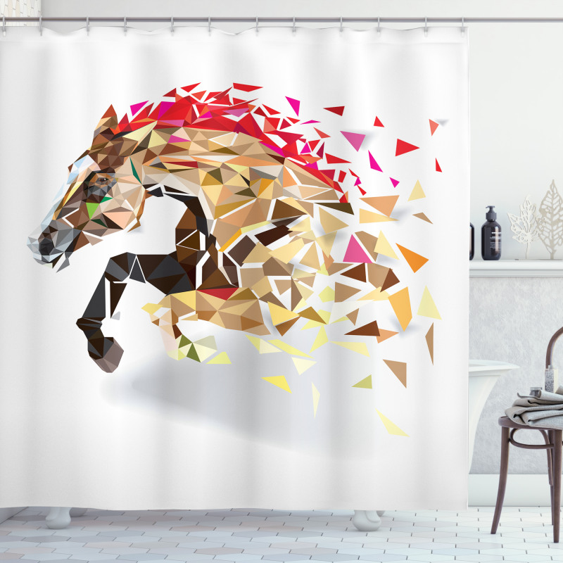 Abstract Art Wild Horse Shower Curtain