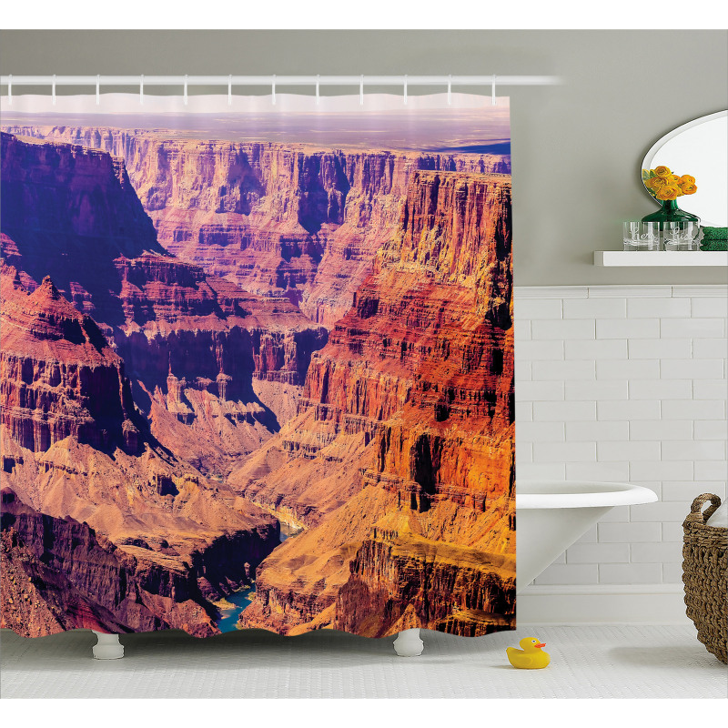 Grand Canyon View USA Shower Curtain