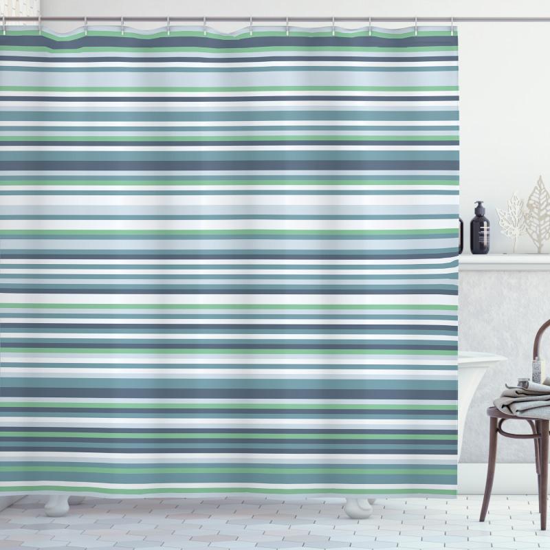 Abstract Narrow Band Shower Curtain