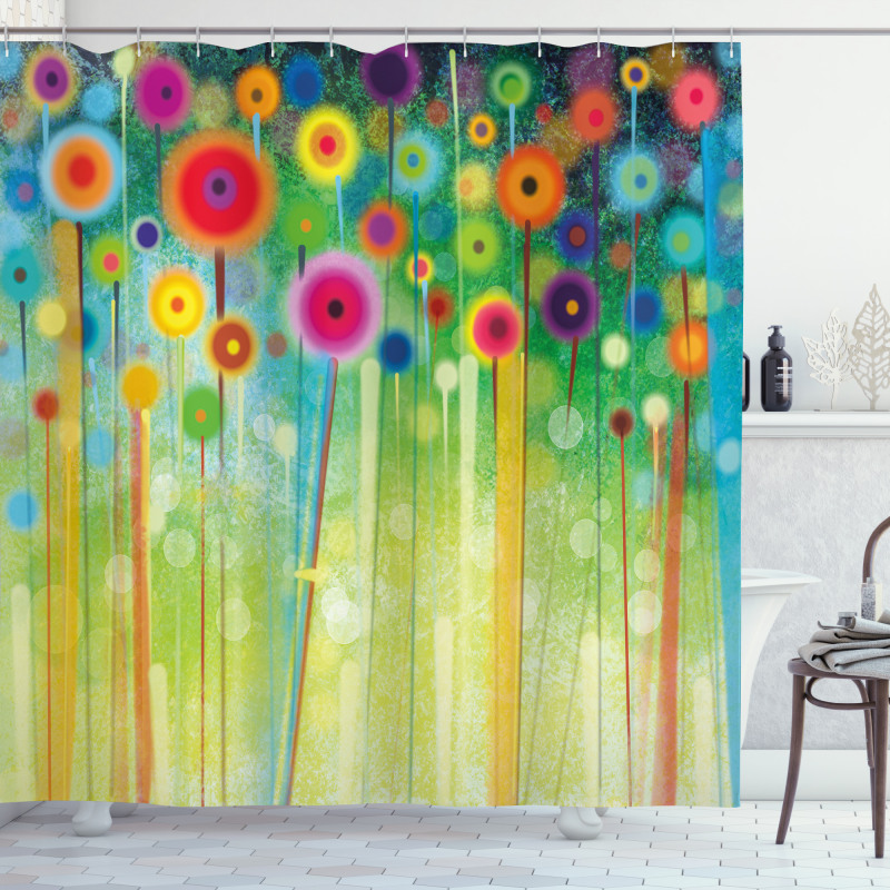 Abstract Art Dandelion Shower Curtain