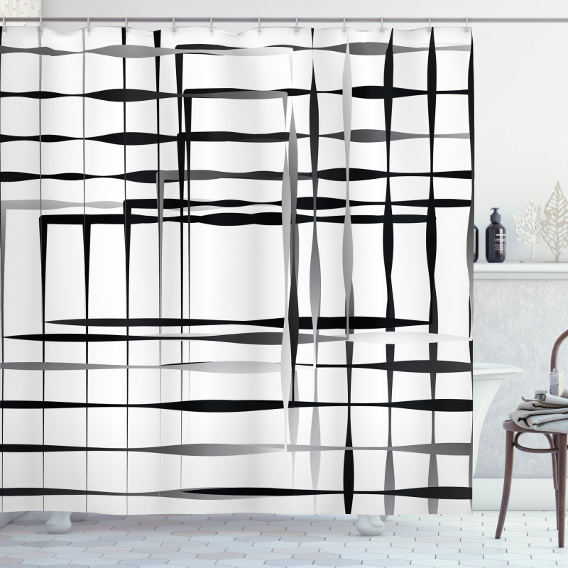 Abstract Art Geometric Shower Curtain