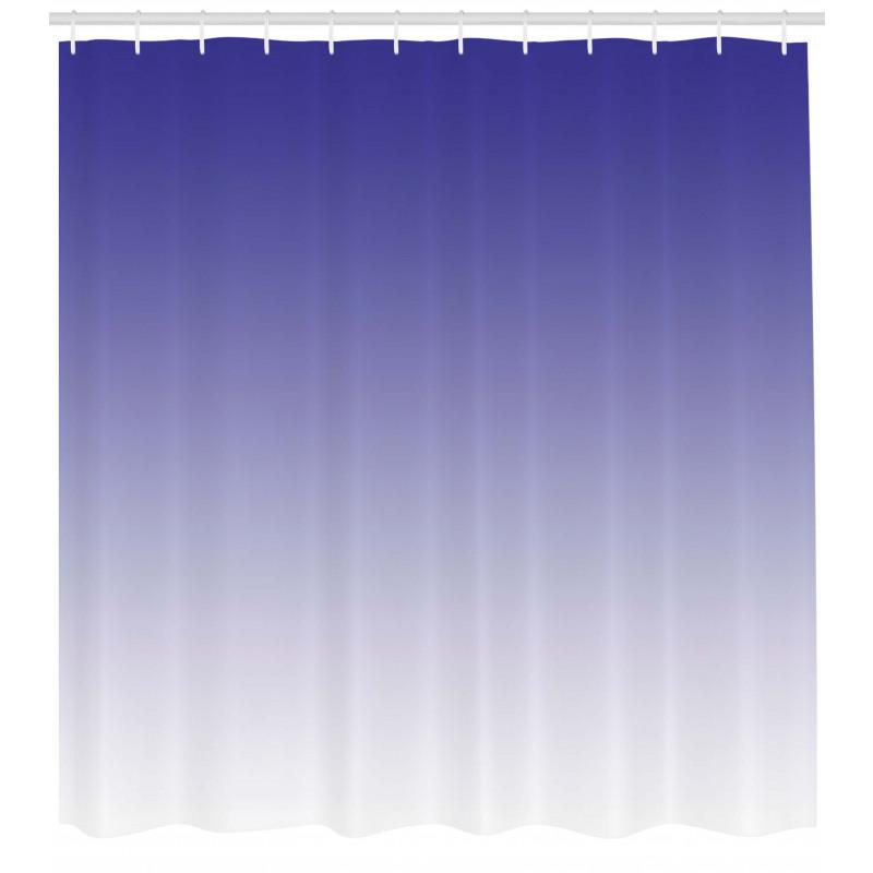 Duş Perdesi Mavi Beyaz Desenli