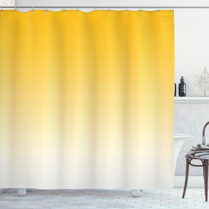 Duş Perdesi Sarı Beyaz Desenli