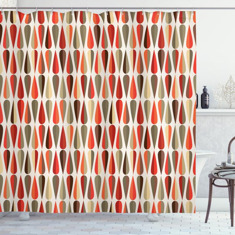 70s Retro Style Shower Curtain