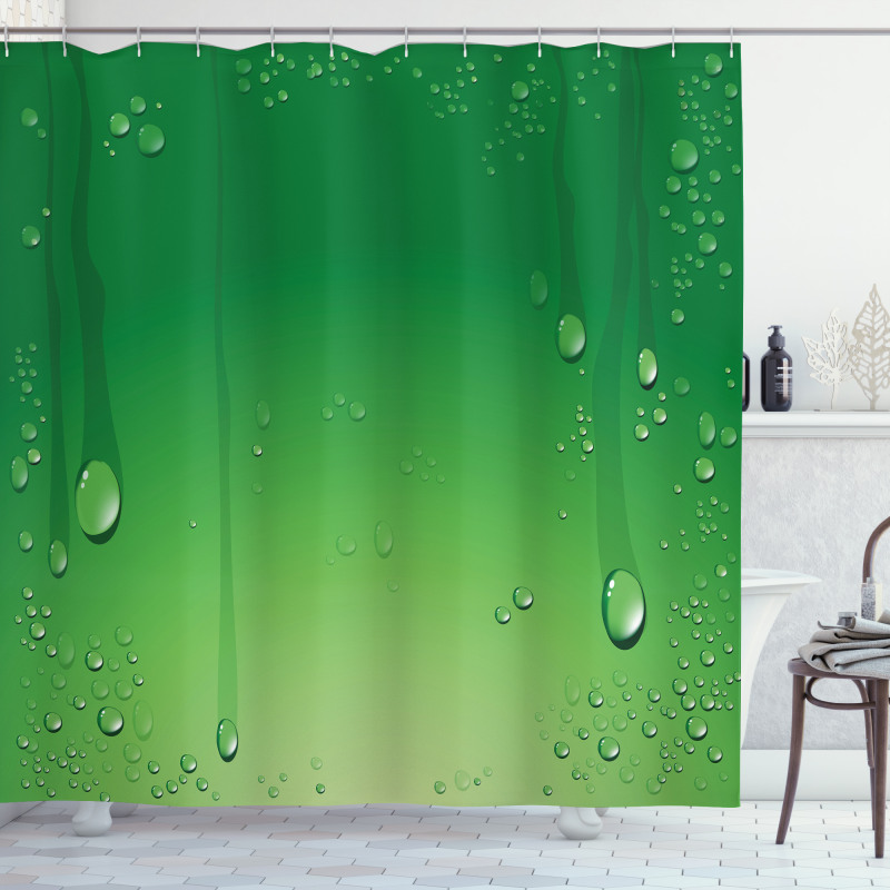 Abstract Art Water Drops Shower Curtain