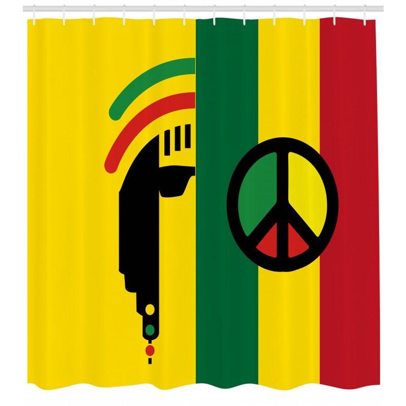 Afrika Duş Perdesi Barış ve Özgürlük