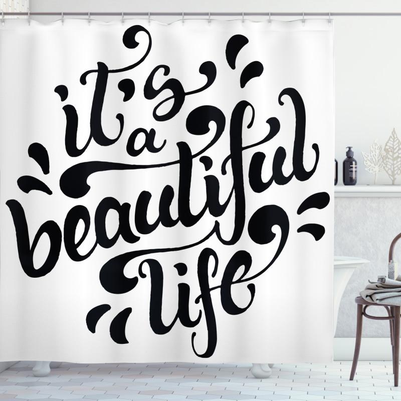 Positive Life Shower Curtain