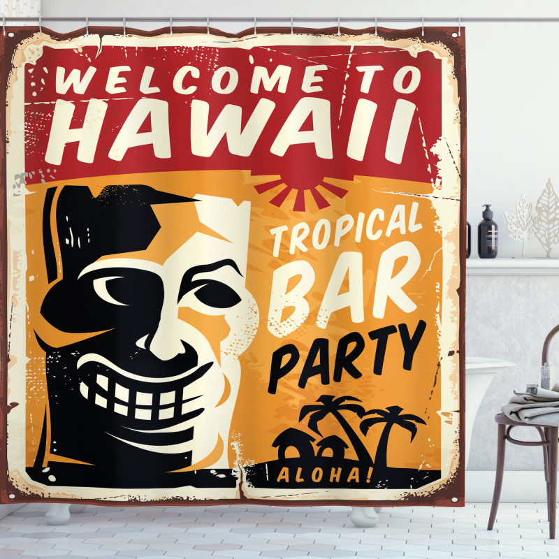 Tropic Bar Party Shower Curtain