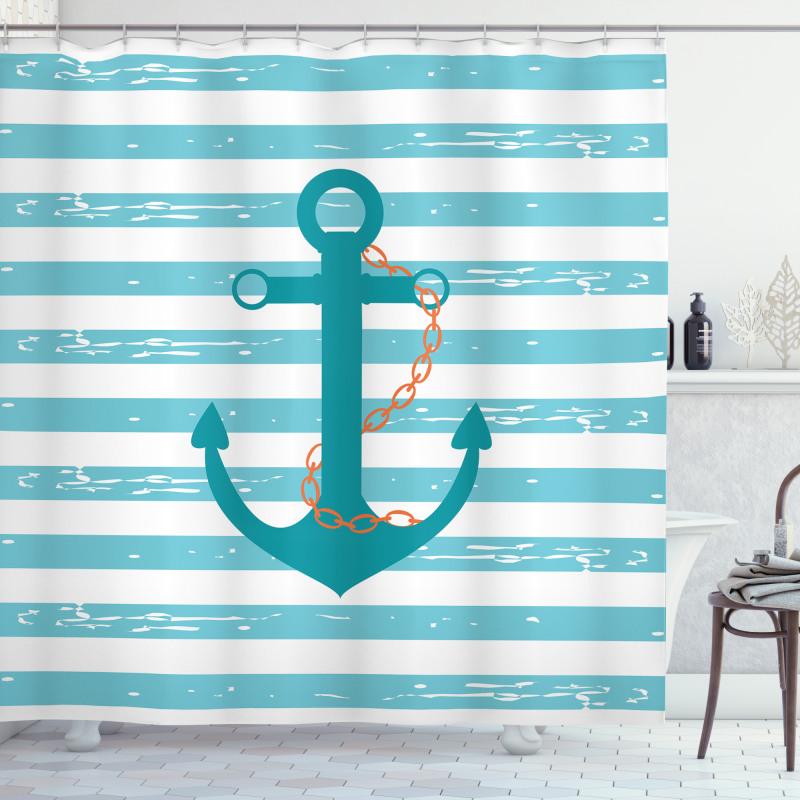 Ship Anchor Marine Life Shower Curtain