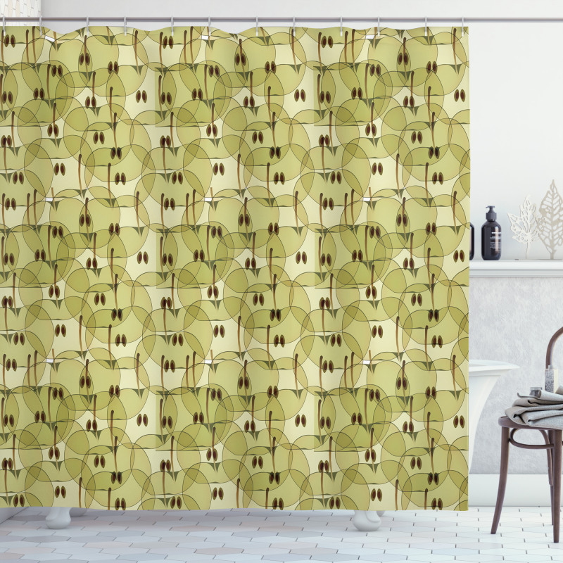 Abstract Autumn Garden Shower Curtain