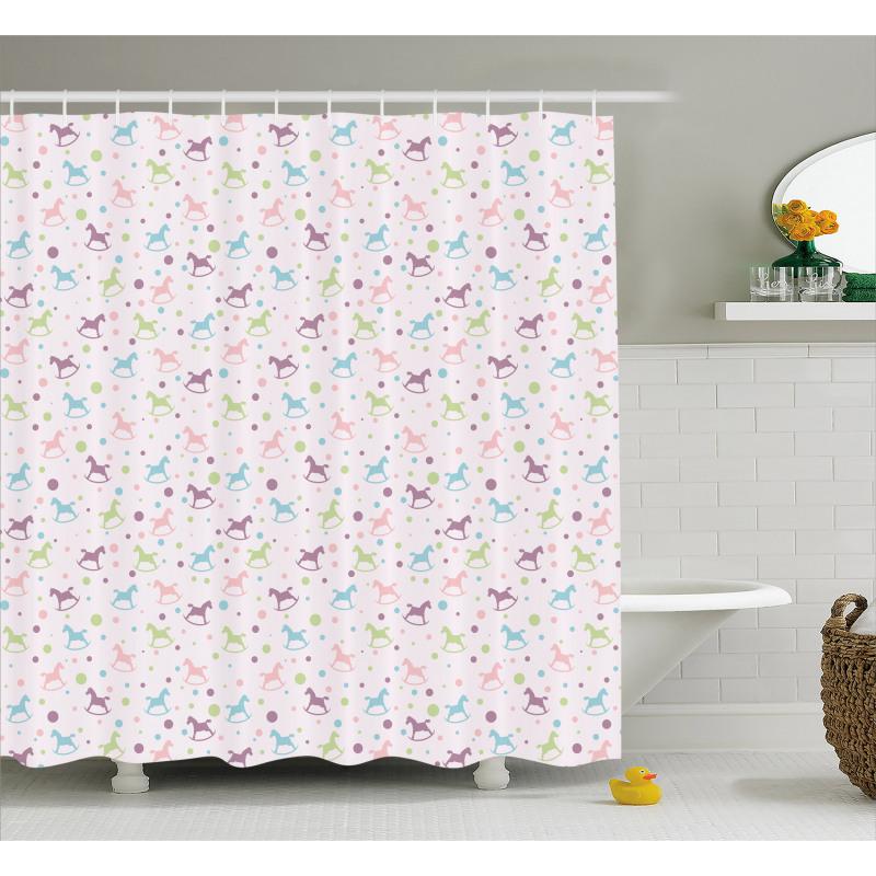 Rocking Toy Vintage Shower Curtain