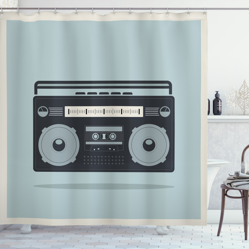 1980s Boombox Image Shower Curtain