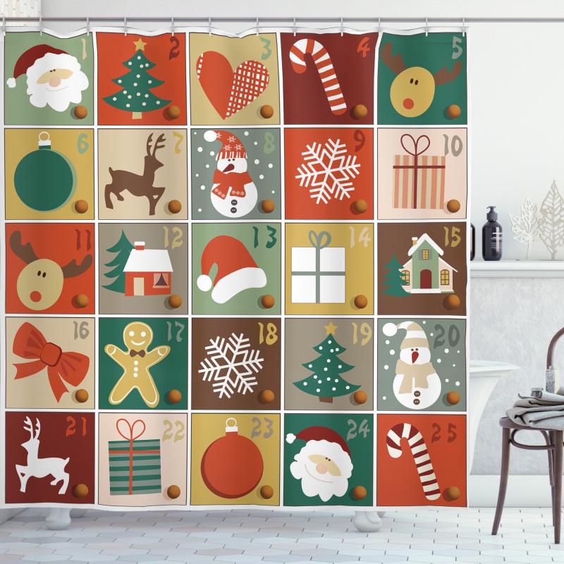 Gingerbread Man Reindeer Shower Curtain