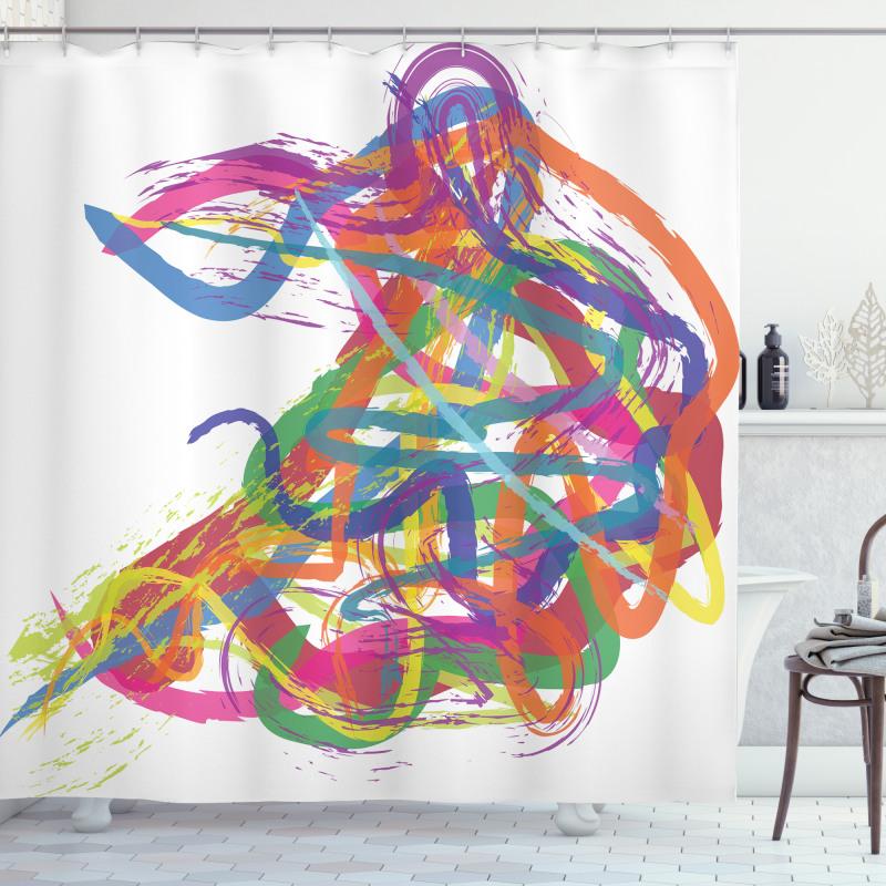 Abstract Art Dancer Shower Curtain