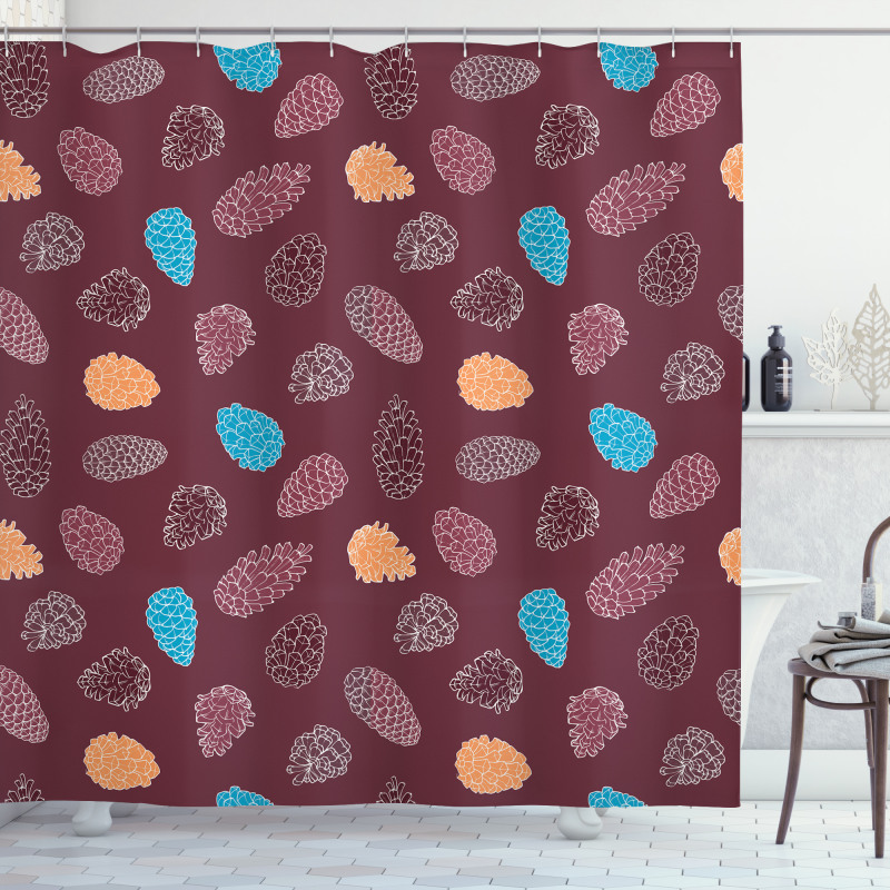 Retro Woodland Creative Shower Curtain