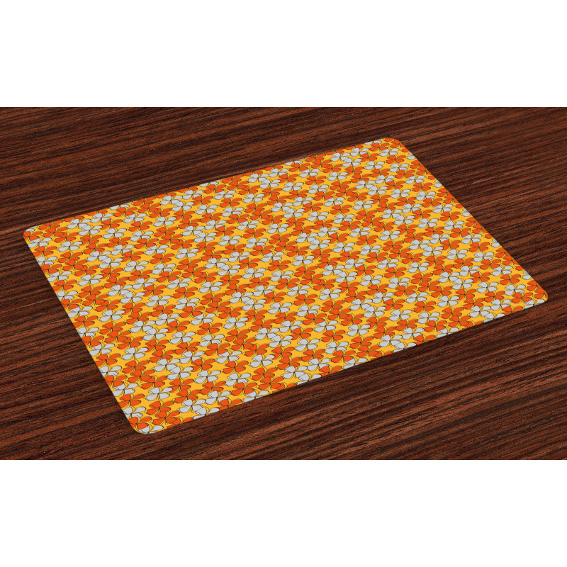 Abstract Autumn Flora Place Mats